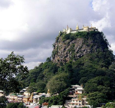 Cliffside Mountain Monasteries Popa 1
