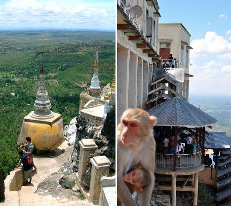 Cliffside Mountain Monasteries Popa 2
