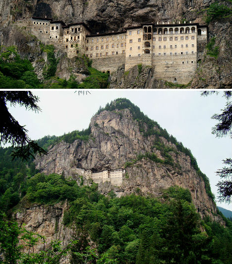 Cliffside Mountain Monasteries Sumela 1