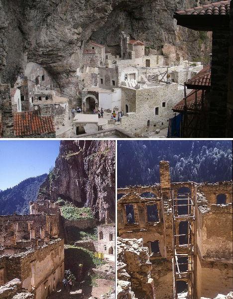 Cliffside Mountain Monasteries Sumela 2