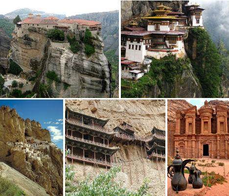 Cliffside Mountain Monasteries main