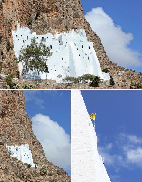 Cliffside Mountain Monastery Hozoviotissa