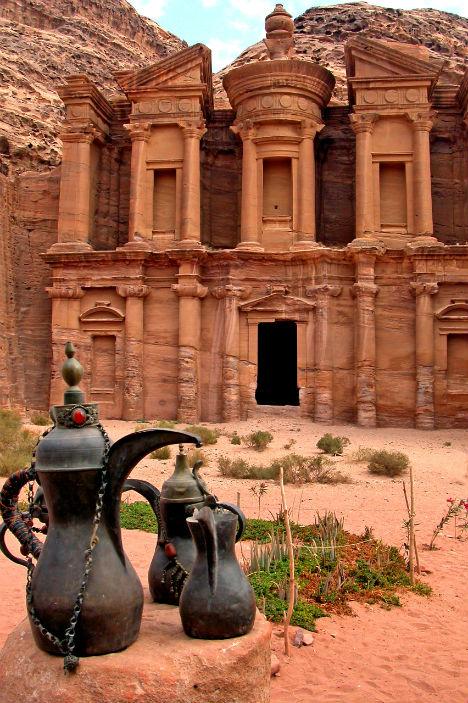 Cliffside Mountain Monastery Petra Jordan 1