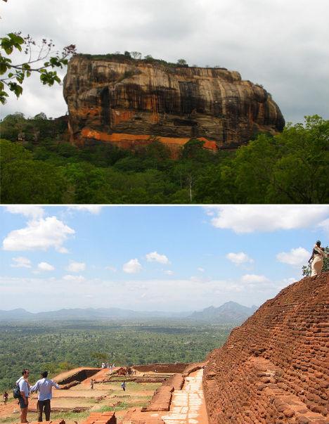 Cliffside Mountain Monastery Sigiriya Sri Lanka