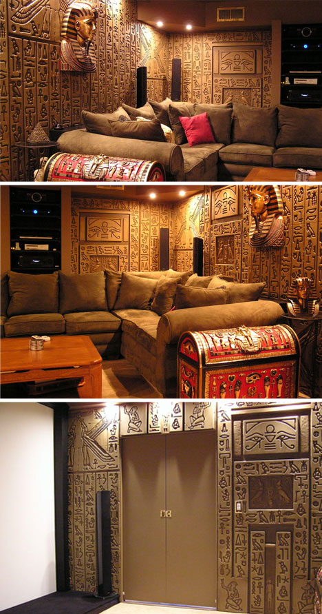 Egyptian-Themed-Home-Theater