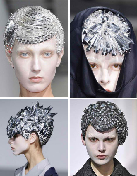 Futuristic Fashion Metallic Hair Junya Watanabe