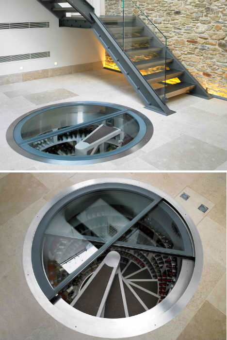 Secret Spirals Underground Home Wine Cellar Spaces Urbanist