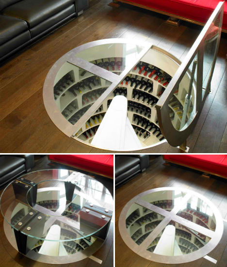 Secret spirals underground home wine cellar spaces urbanist - The subterranean house fighting small spaces ...