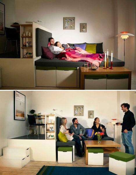 Prototype To Reality Super Space Saving Bedroom Set