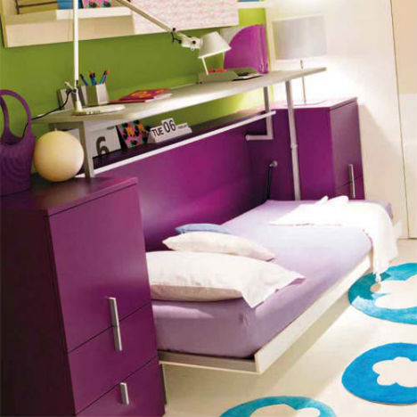 Resource furniture convertible designs for small spaces studio przedmiotu - Guest bed solutions small spaces minimalist ...