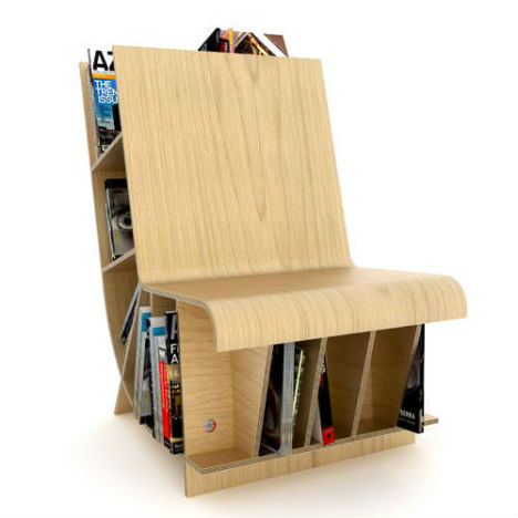 Space Saving Transforming Chair Bookcase