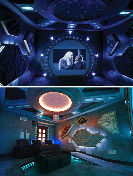 Stargate-Themed-Home-Theater
