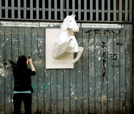 Wild Horses 3D Paper Sculpture 1