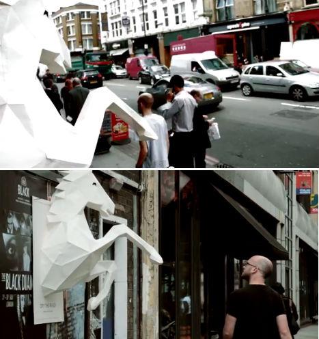 Wild Horses 3D Paper Sculpture 4