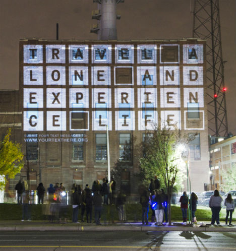 Your Text Here Projection Bombing Light Art 4