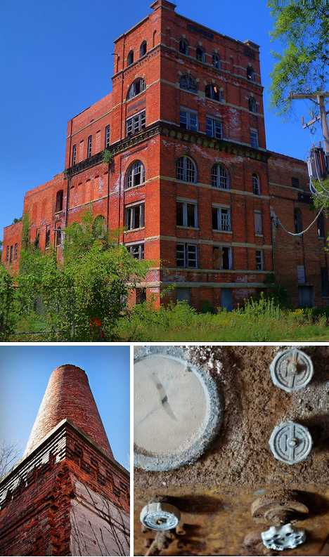 Old Gebhard Brewery Morris Illinois abandoned