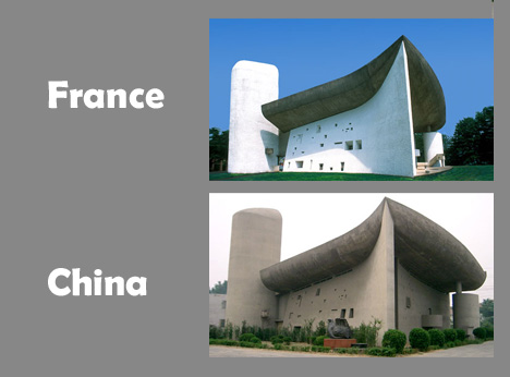 china france copycat buildings
