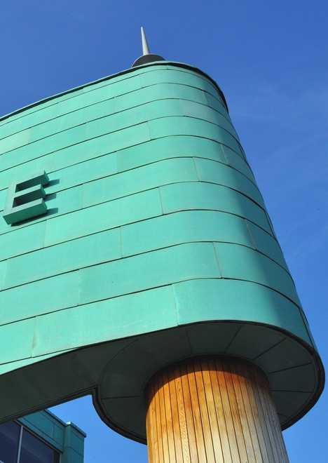 copper-clad Evesham Leisure Centre UK