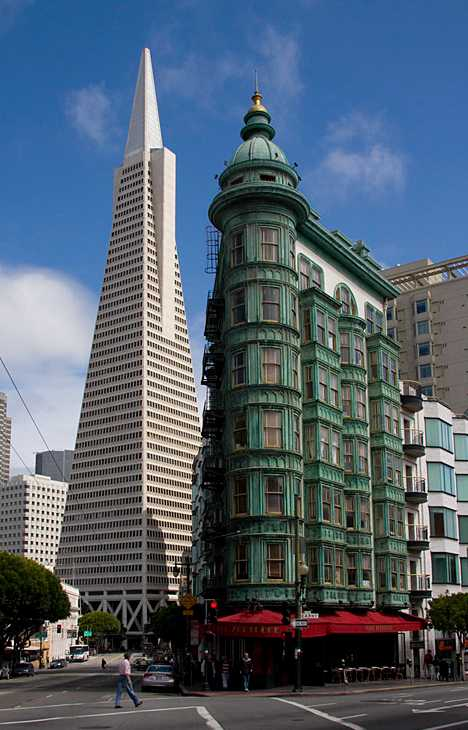 copper-clad San Francisco Transamerica Copper Building