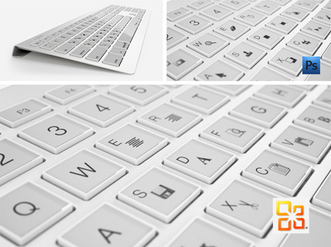 E Ink Keyboard Letter Keys Morph Into Custom Symbols Urbanist