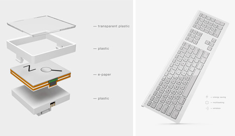 electronic ink keyboard concept