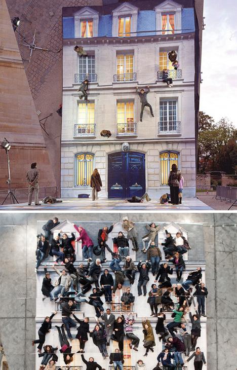 facade illusion street installation