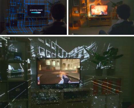 illumiroom surround system projection