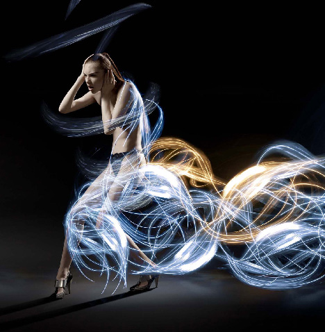 light art costume design