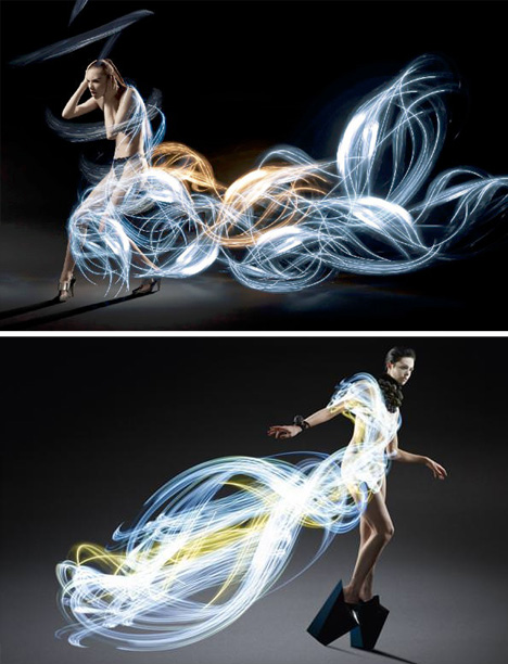 light art dresses photography
