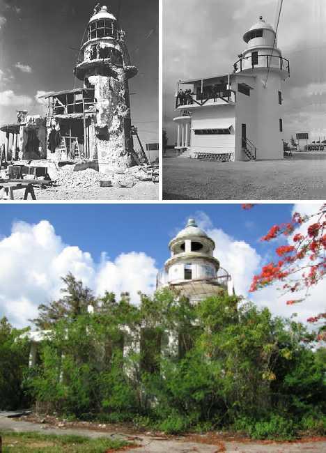 Garapan Lighthouse Saipan abandoned