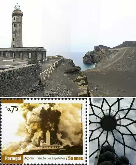 Capelinhos Lighthouse Azores Faial abandoned
