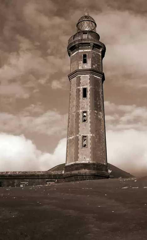 Capelinhos Lighthouse Azores abandoned