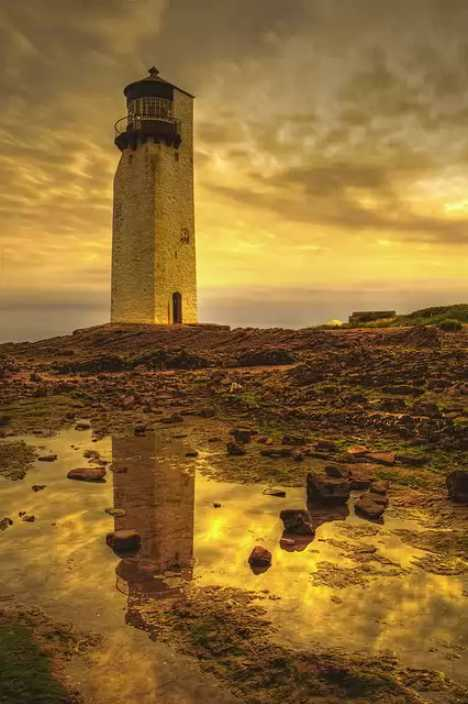 Southerness Lighthouse Dumfries Scotland abandoned