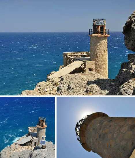 Agios Ioannis Lighthouse Crete abandoned