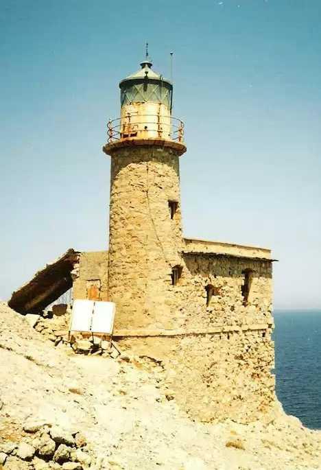 Agjos Ioannis Lighthouse Crete abandoned
