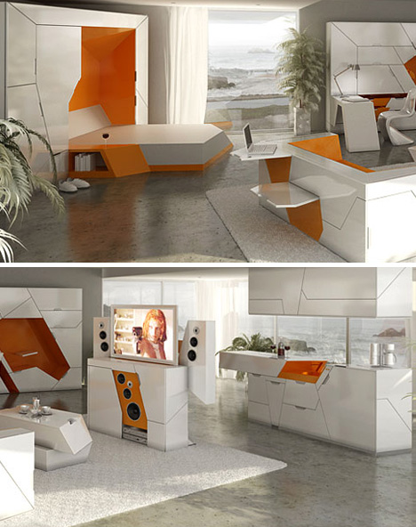 futuristic homes interior 5 room in a box designs form 100 modular home interior 11842