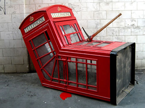 phone booth banksy art