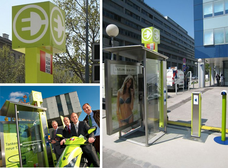 phone booth charging station