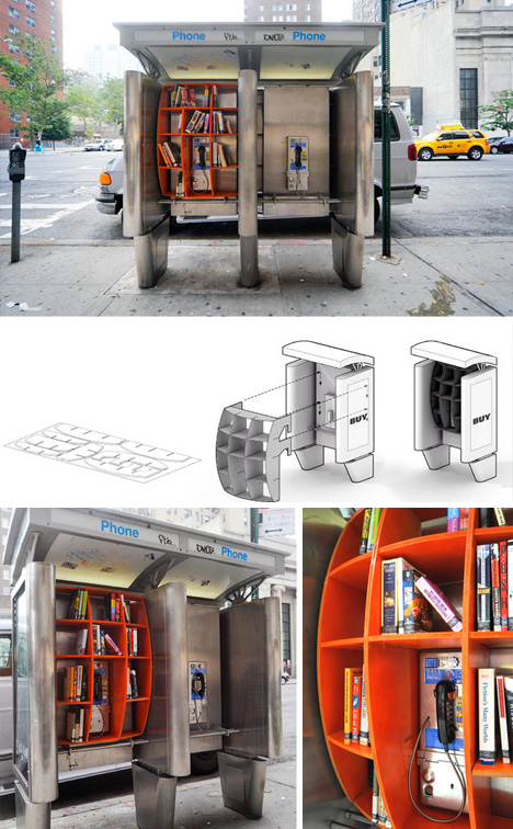 phone booth library nyc