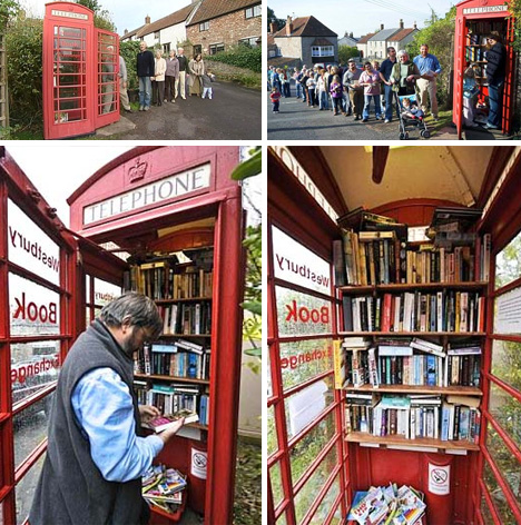 phone booth media swap