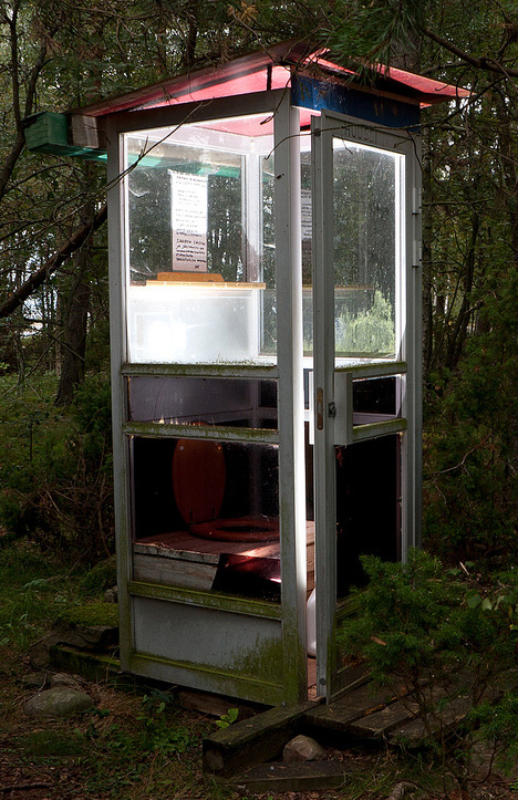 phone booth outhouse reuse