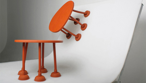 rubber plunger table