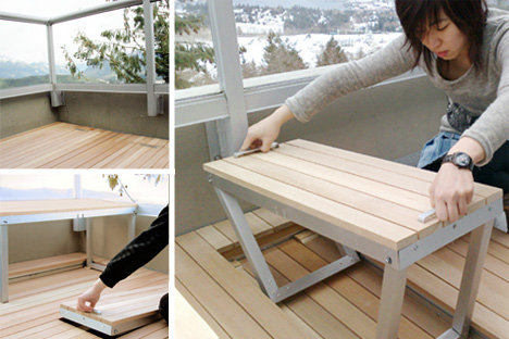 space saving deck furniture