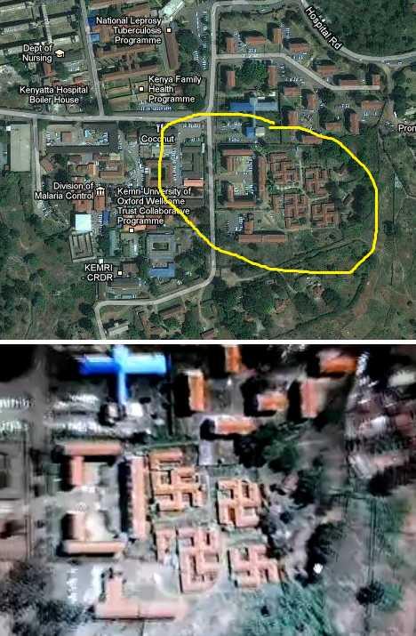 swastika buildings Nairobi Kenya