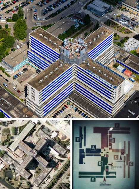 Slotervaart Ziekenhuis Amsterdam building swastika