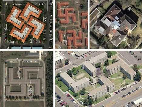 swastika-shaped buildings