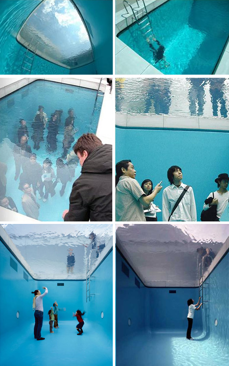 swimming pool illusion installation
