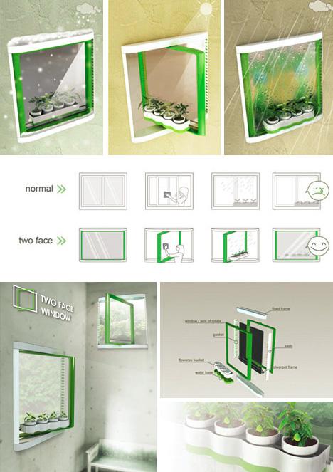 window reversible garden sill