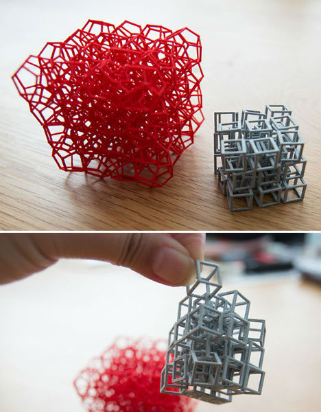3D Printed Interlocking Cubes