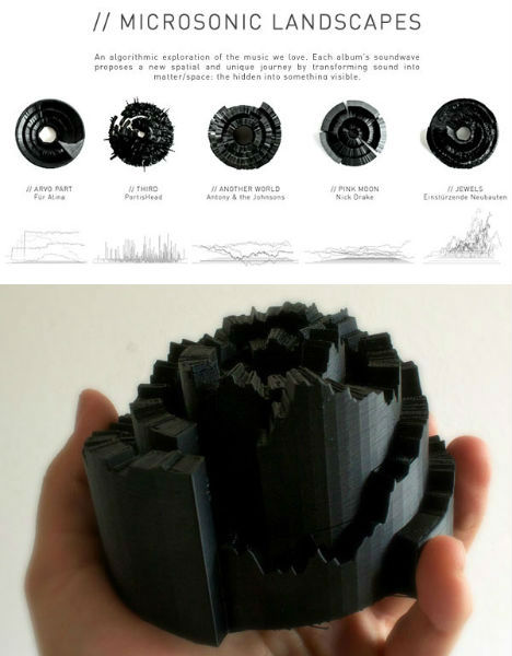 3D Printed Microsonic Landscapes